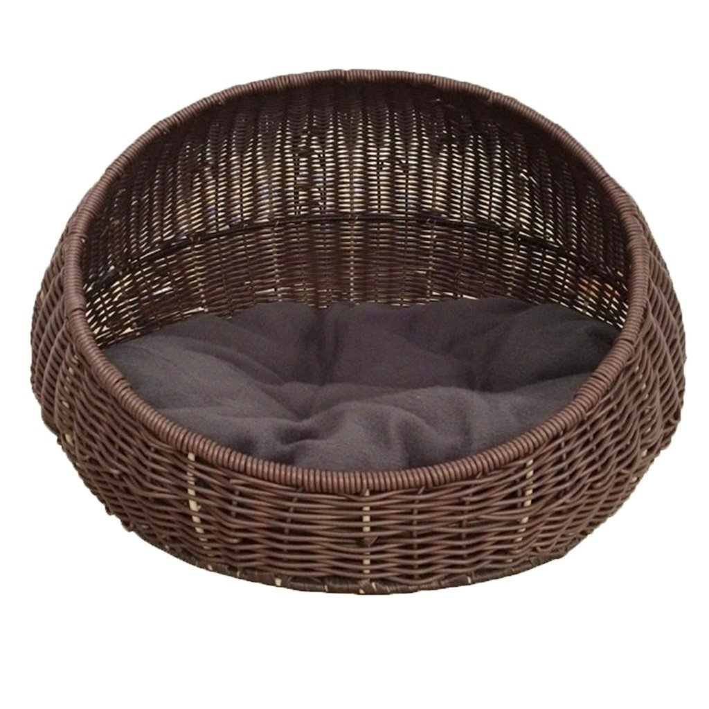 Brown 405035cm Brown 405035cm Premium Dog's Bed, Dogs Furniture Cat Litter pet nest Summer Rattan Villa Closed cat House cat pet House Four Seasons Universal cat Litter Kennel Removable and Washable