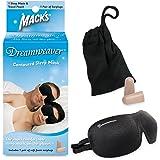 Mack's Dreamweaver Contoured Sleep Mask - Comfortable, Adjustable, Dual Strap Eye Mask with Mack's Ultra Soft Foam Earplugs