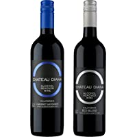 Chateau Diana Zero 2 Bottle Pack - Alcohol Removed California Red Wine and Cabernet Sauvignon