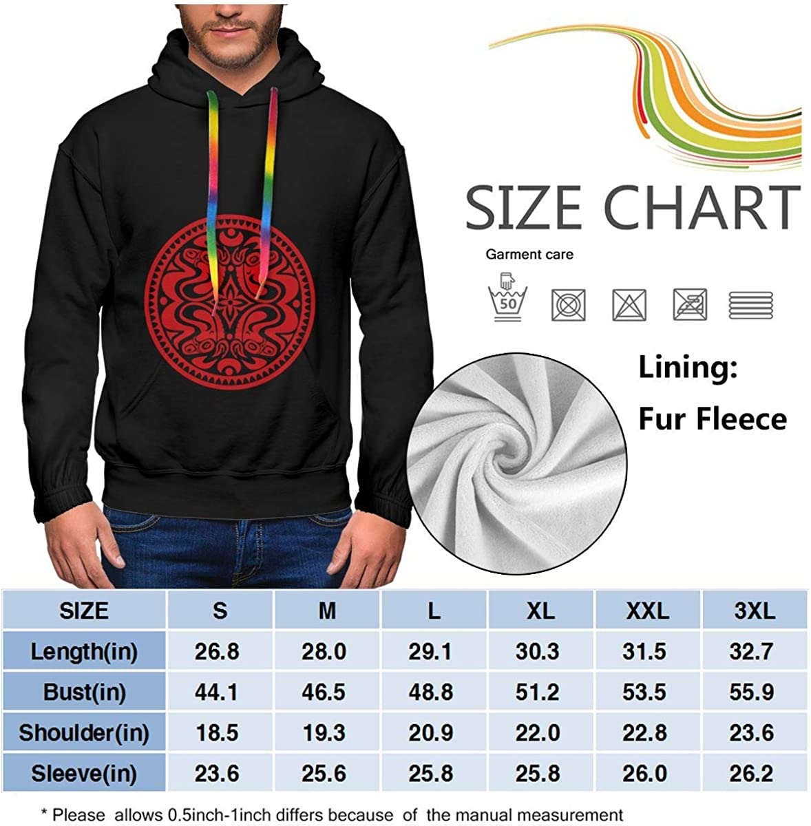 Govt Mule Mens Winter Jacket Clothes Plus Velvet Long Sleeve Hooded Sweat Shirt Pullover