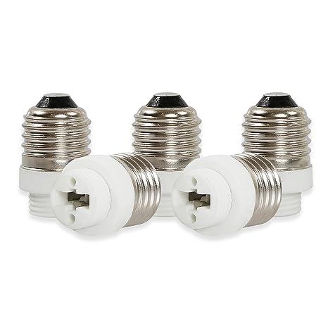 Pack of 3 FINELED E27 to G9 Adapter,E27-G9 Lamp Holder Converter Base LED Light Bulb Socket Adapter Converter