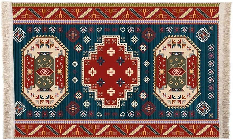 Cotton Moroccan Area Rugs,Hand Woven Floor Carpets with Tassels Machine Washable for Kitchen Bedroom Living Room Home Decor Runner Rug-AQ-80x130cm(31x51inch)
