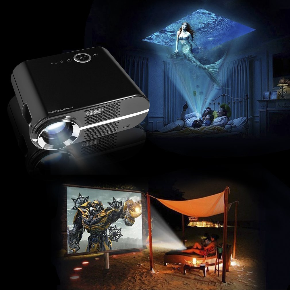 ocday 720P Video Proyector protable gp90 proyector LCD 3200 ...
