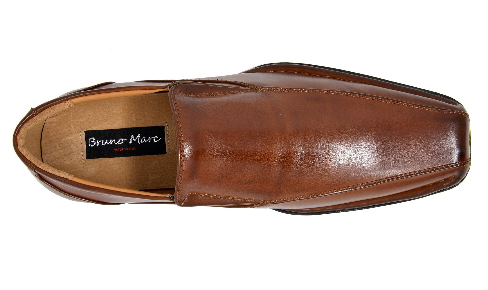 Bruno Marc Men's Giorgio-1 Brown Leather Lined Dress Loafers Shoes - 11 M US by BRUNO MARC NEW YORK (Image #4)