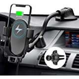 Mpow Car Mount Wireless Charger, Qi Car Charger 10W/7.5W/5W, Auto-Clamping Car Wireless Charger, Dashboard Air Vent Car Phone