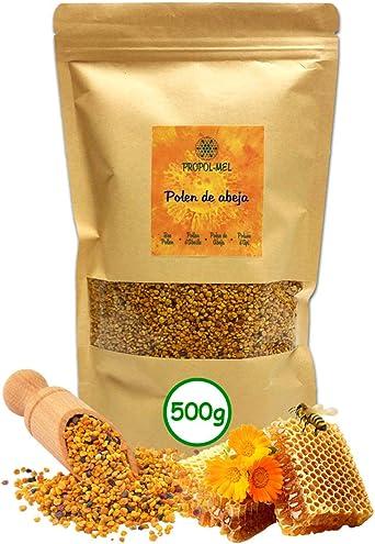 500 gramos - Polen de España (UE) 100% natural. Polen de abeja libre de residuos. Polen fuente de proteinas, aminoácidos, lípidos, vitaminas y ...