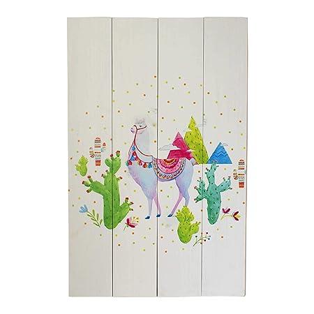 Liza Line Cartel Vintage de Pared Decorativo de Madera, Cuadro Mural Moderno de Decoración para el Hogar, el Salón. Multicolor - Madera de Pino Macizo ...
