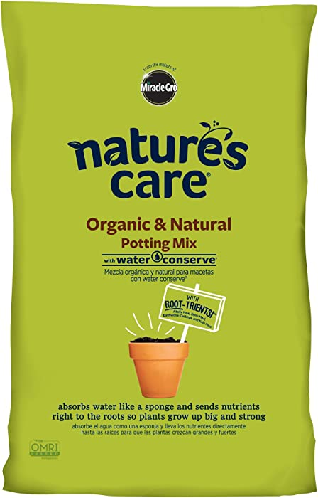 Miracle-Gro Nature's Care Organic & Natural Potting Mix with Water Conserve, 16 qt.