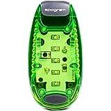 Spogram LED ランニング ライト 5個LED搭載 クリップ 型 セーフティーライト 夜ラン 自転車 散歩 高速 点滅 反射 電池付