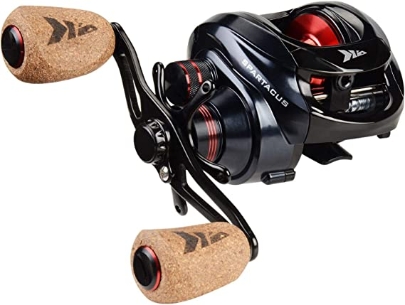 KastKing Spartacus Baitcasting Fishing Reel Ultra Smooth 17.6 LB Carbon Fiber Drag