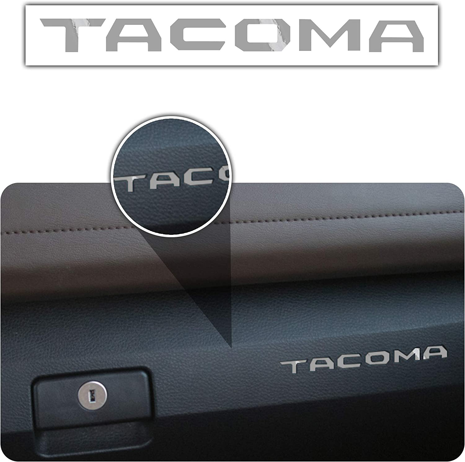 2016-2018 Toyota Tacoma Glove Box Dashboard Vinyl Letter Inserts Decal 2 Pack