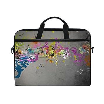 Ahomy - Bolsa para Ordenador portátil de 15 a 15,4 Pulgadas, Colorida Nota de Beat, ...