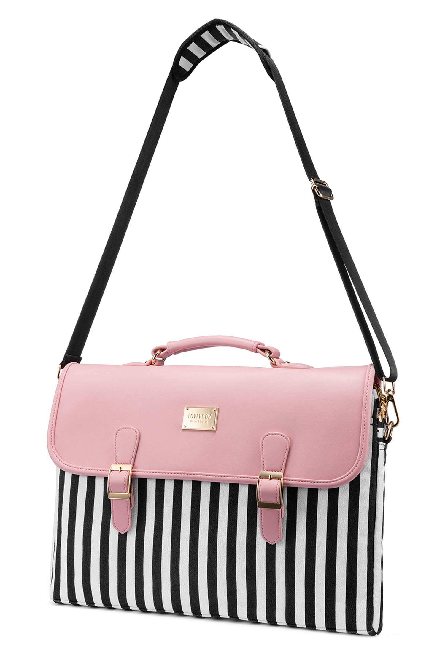 Computer Bag Laptop Bag for Women Cute Laptop Sleeve Case for Work College, Slim-Pink, 15.6-Inch by LOVEVOOK