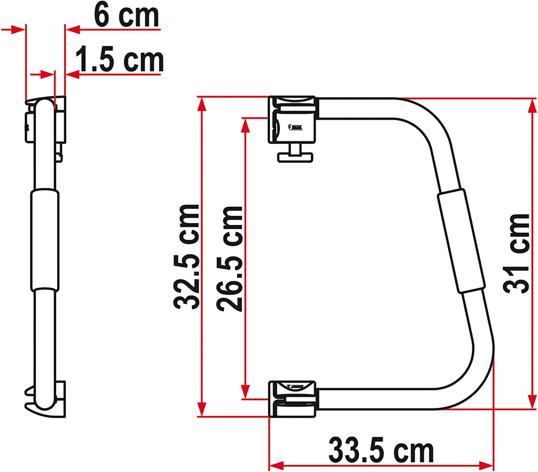 Fiamma Security 31/Marchepied hauteur de larceau 31/cm serrure aluminium