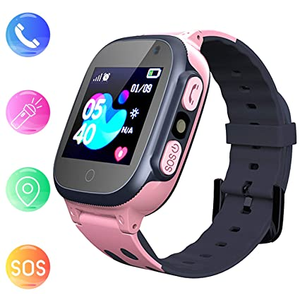 Jsbaby Kids smartwatch Phone Watches for Children with LBS Tracker sim Card Anti-Lost sos Call Boys and Girls Birthday Compatible Android iOS Touch ...