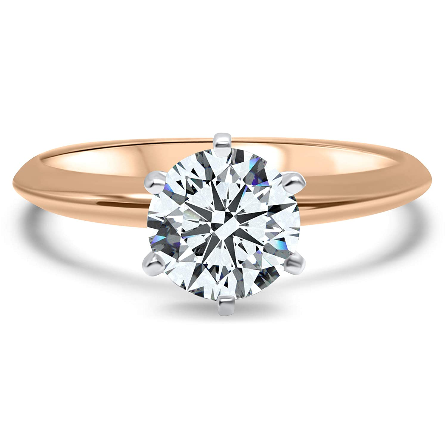 1.90 Ct White Round Moissanite Solitaire Engagement Ring Promise Ring Dainty Ring Jewelry Gift For Her Daily Ring