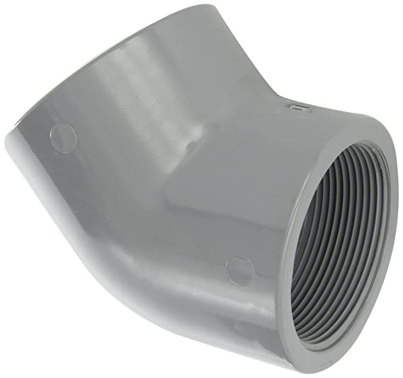 Spears 819-C Series CPVC Pipe Fitting 45 Degree Elbow 1//2 NPT Female Schedule 80