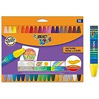 BIC Kids Waskrijtjes - Verschillende Kleuren, Pak van 36 Stuks