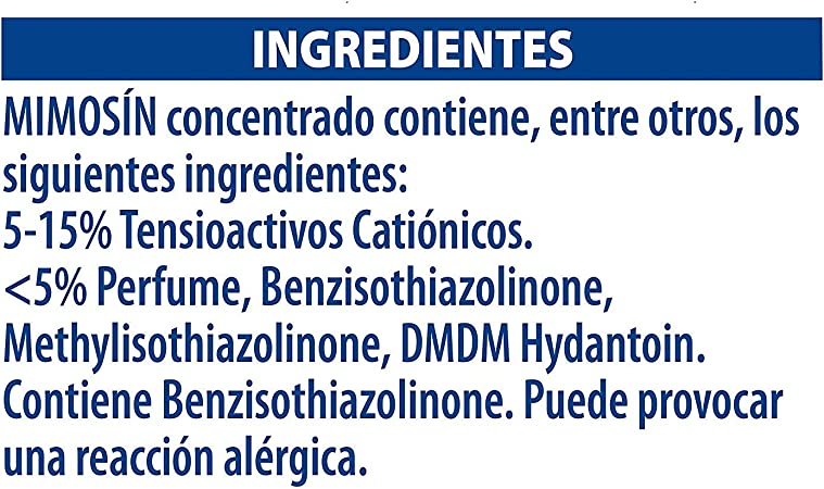 Mimosin Caricias Suavizante concentrado, lavado hipoalergénico ...
