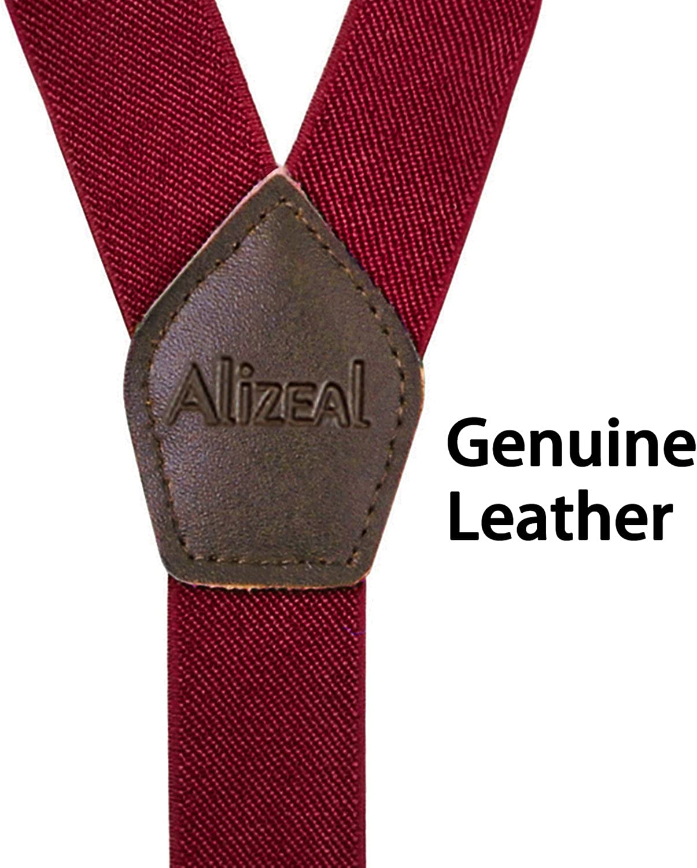 Alizeal Forma Y-Tirantes Ajustables con 3 Clips para Hombre Khaki