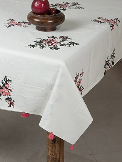 71c825271 Image Unavailable. Image not available for. Colour  MYYRA Hand Block  Printed Cotton Table Cover ...