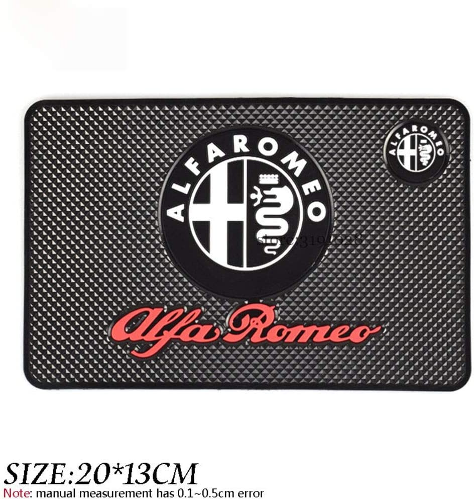 FIOLTY Car Interior Anti-Slip Dashboard Pad Non Slip Mat For Alfa Romeo 159 147 156 155 Mito Giulietta Sper GT Stelvio Giulia