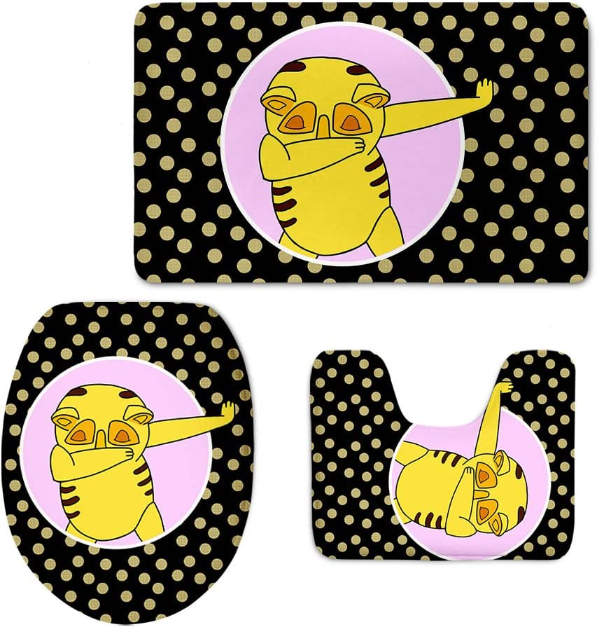 Tapis de Bain 3/pcs//lot Moderne Floral Coloranimal Mode Dessin anim/é de Salle de Bain antid/érapant Animal Style Tapis Couvercle pour abattant