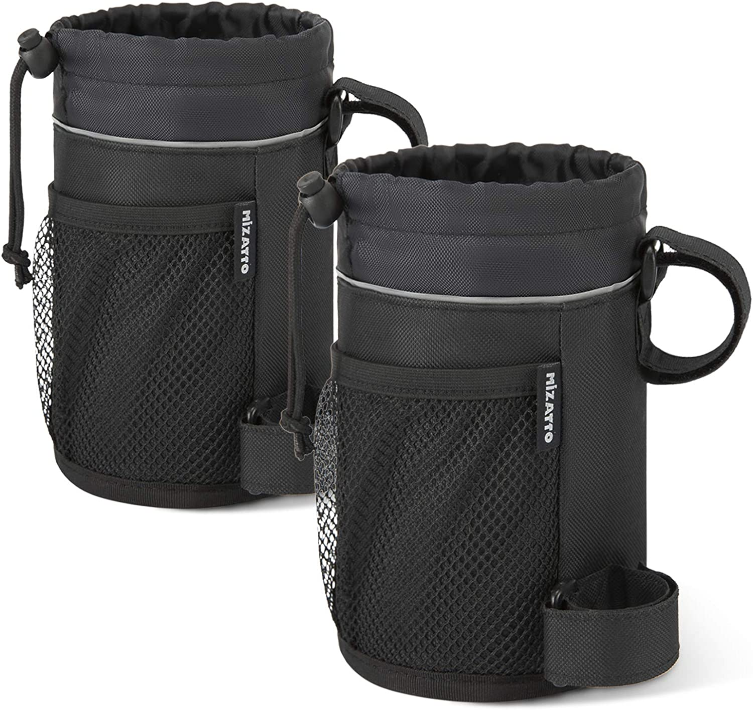 MIZATTO 2 Pack Bike Cup Holder - Water Bottle Holder for Bike, Boat, Scooter, Wheelchair etc