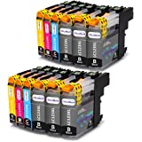 OfficeWorld Sostituzione per Brother LC123 Cartucce d'inchiostro Compatibile per Brother MFC-J6520DW DCP-J132W MFC-J470DW MFC-J4510DW MFC-J4410DW MFC-J870DW (6 Nero, 2 Ciano, 2 Magenta, 2 Giallo)