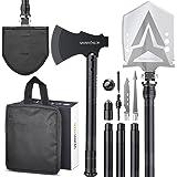 Sahara Sailor Survival Shovel with Axe, High Carbon Steel Tactical Shovel Camping Shovel Hatchet Combo - 4 Thicken Extension