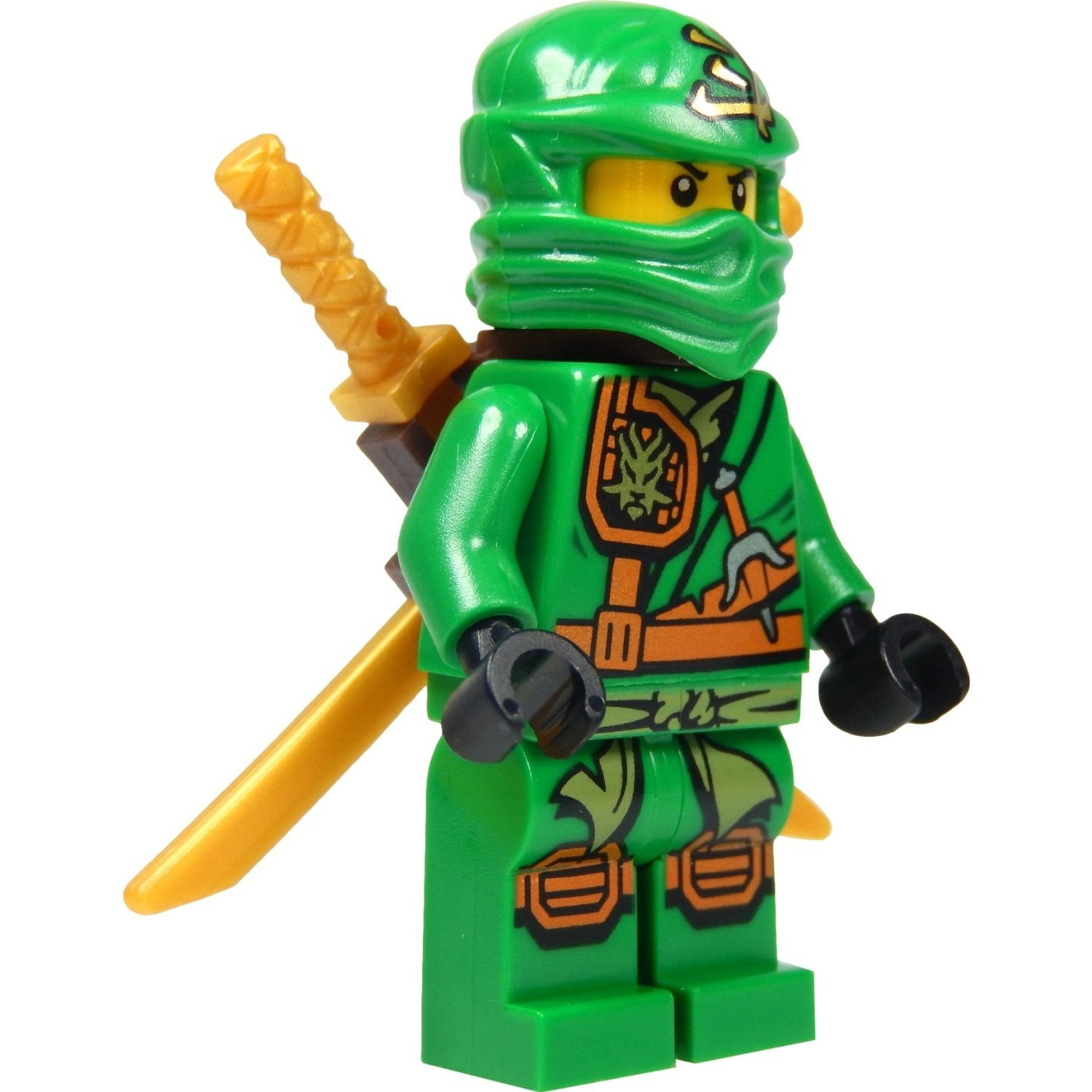 lego ninjago minifigure lloyd with zukin robe green ninja