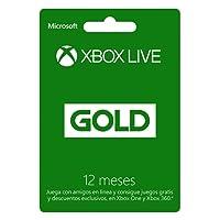 Xbox Live Gold - Membresía 12 meses