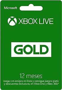 Xbox Live Gold - Membresía 12 meses - Xbox One 12 meses Edition
