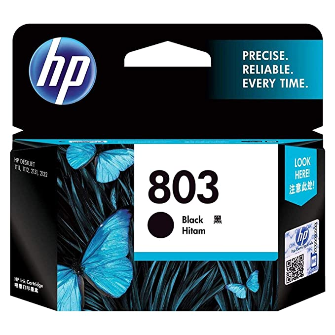 HP 803 Small Ink Cartridge  Black  Ink Cartridges