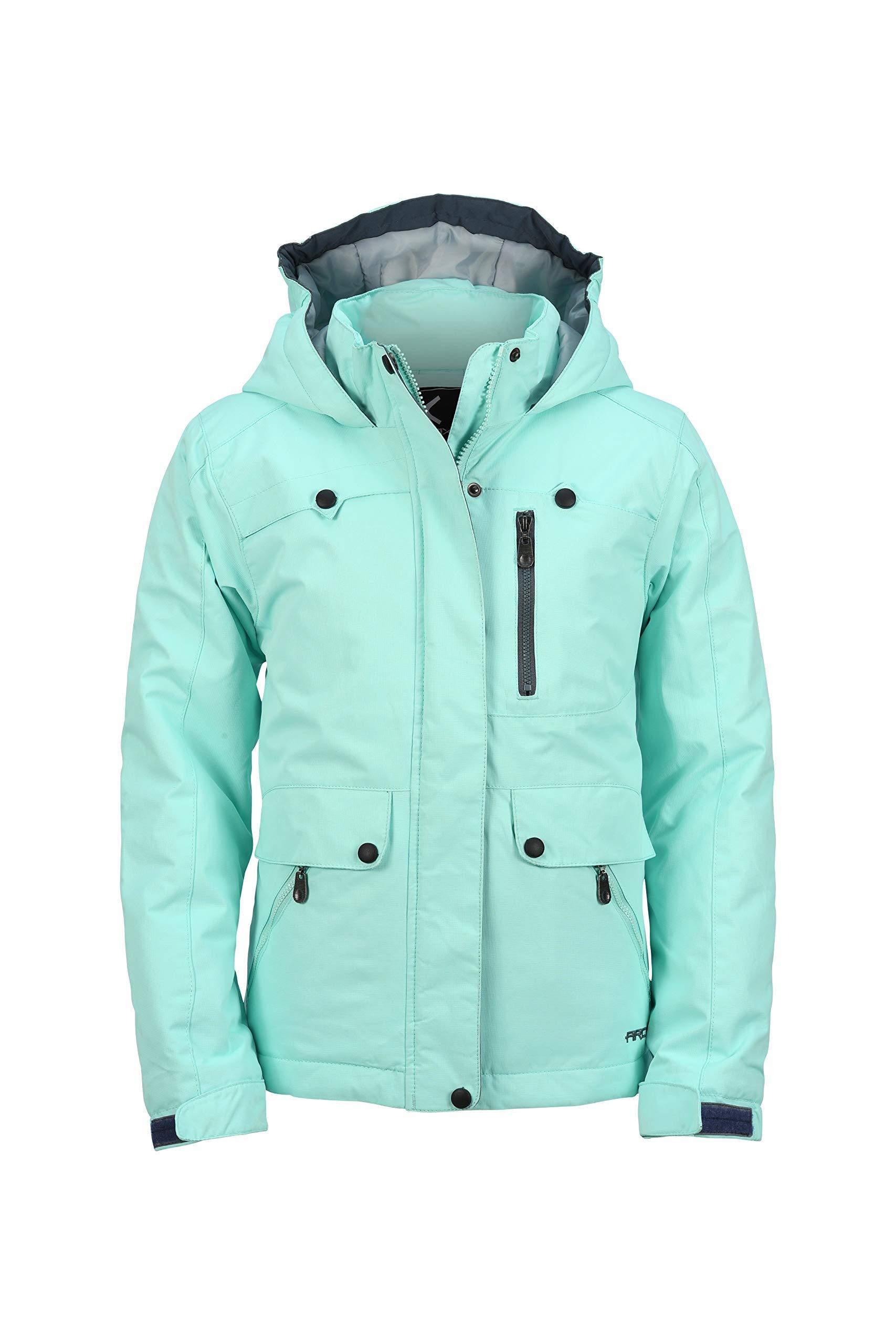 Arctix Girls Jackalope Insulated Winter Jacket, Island Azure, Large by Arctix