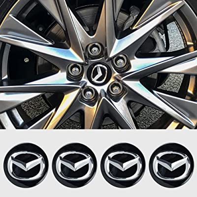 "DILIDILI 4-Piece Set 2 1/4"" 56mm Black Wheel Center Cap Fit for Mazda CX-3 2016-19 CX-5 2013-19 CX-7 CX-9 Mazda 3 2012-18 Mazda 5 2010-15 Mazda 6 2009-19 Miata 2009-2020 MX-5 RX-8: Automotive"