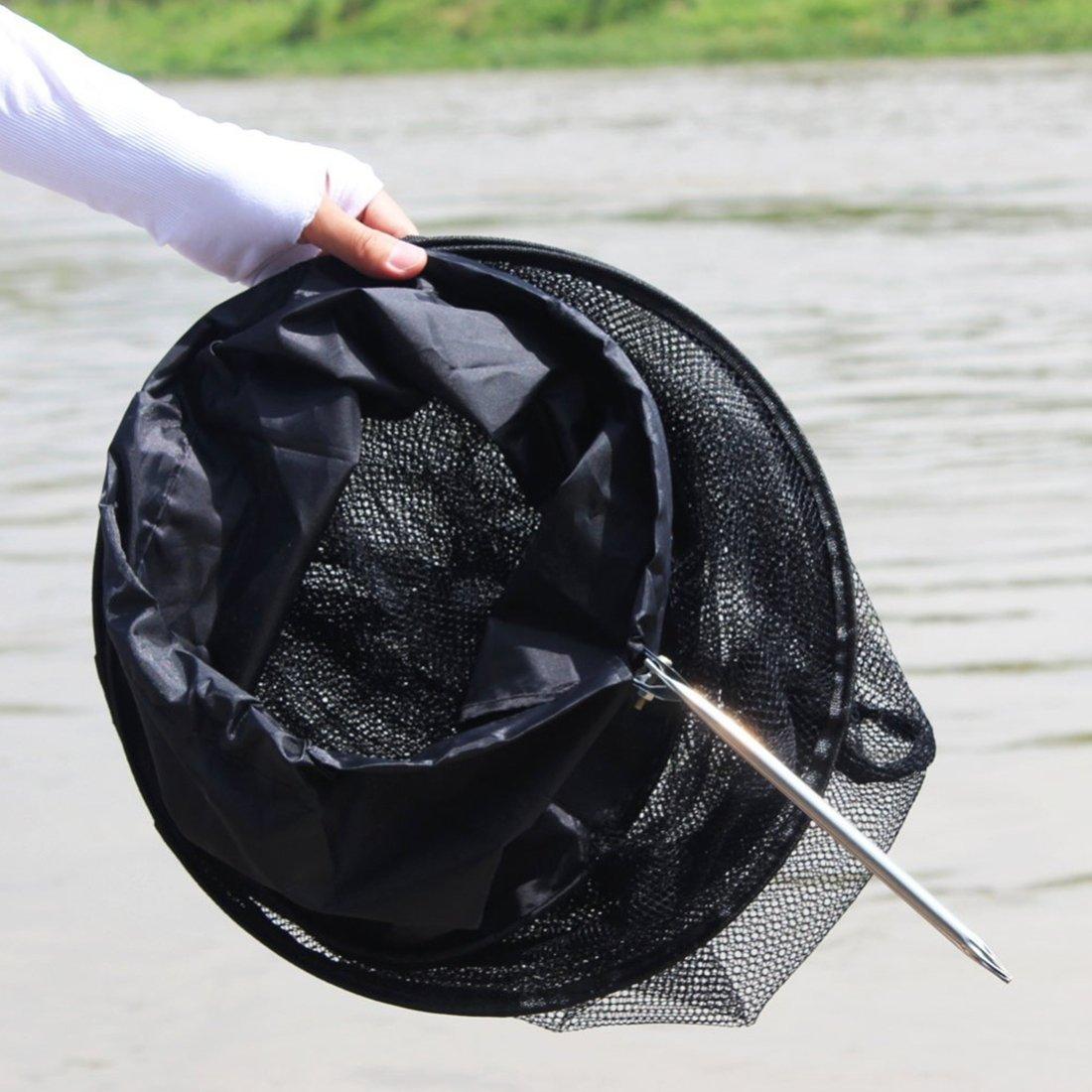 Fishing YHM 1.5m Fischnetz K/äfig 5 Schichten faltbare Fischpflege Netz Fischk/äfig Draht Fischpflege Anti-Scraper Pflege