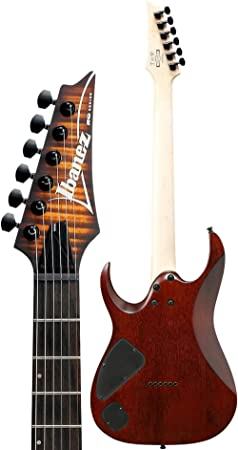 Amazon.com: Ibanez RGA Series RGA42FM - Dragon Eye Burst Flat: Musical Instruments