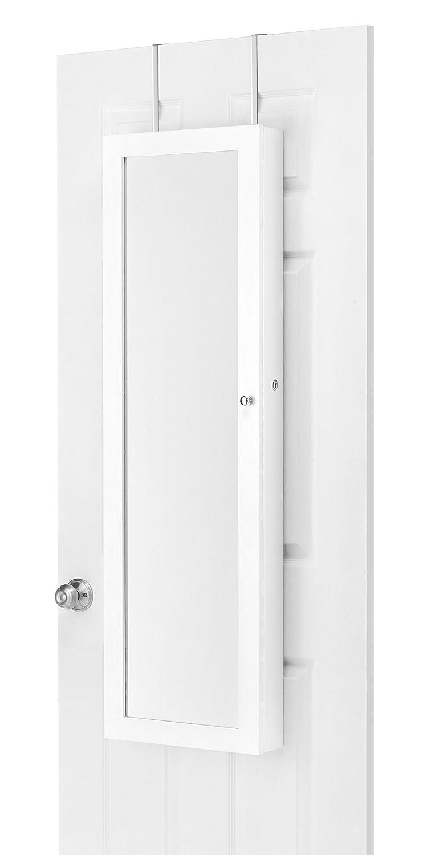 Whitmor 6375-5957-BB Mirrored Over-The-Door Jewelry Cabinet
