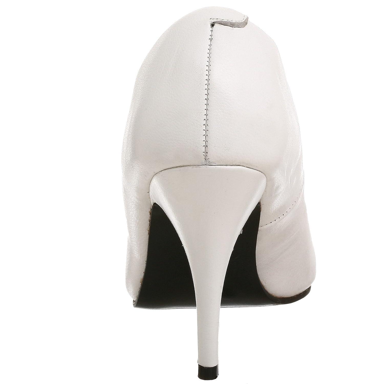 Pleaser Vanity-420 Weiß) Damen Pumps Blanco(leder Weiß) Vanity-420 046151