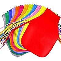 DUO-H Delantales de Tela para niños, 24 Piezas, 12 Colores, para Cocina, Aula, Evento comunitario, Manualidades y Pintura artística.