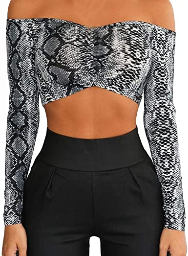 Ropa Camisetas Mujer, Estampado de Serpiente Blusa para Mujer ...