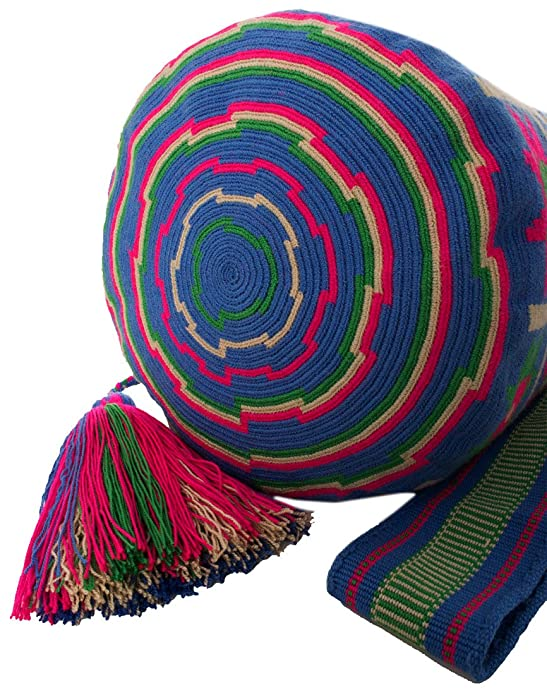 Amazon.com: Across The Puddle, Wayuu Bags and Hats Collection, Authentic Large Wayuu Mochila Bag MW-0142: Shoes
