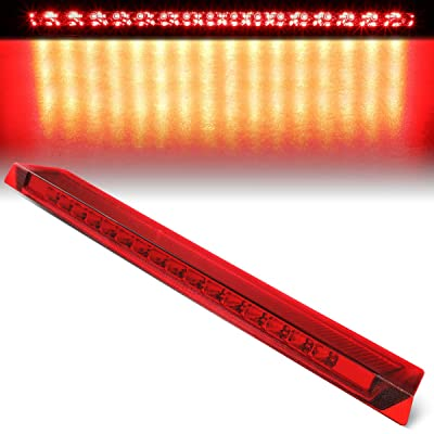 Red Housing Trunk Center Mount LED 3rd Third Tail Brake Light Lamp Replacement for Ford Mustang 99-04: Automotive