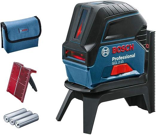 Bosch Professional Nivel láser GCL 2-15, Láser rojo, puntos de ...