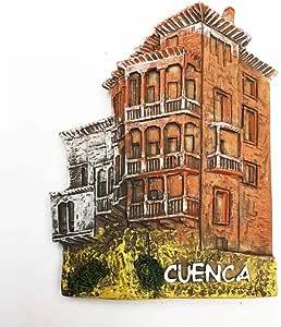 Imán 3D para nevera 3D con diseño de España realizado en resina, colección de viajes, ideal como recuerdo de viaje, regalo turístico, decoración para el hogar y la cocina, adorno magnético para