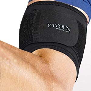 Bicep & Tricep Compression Sleeve/Wrap - Tricep Tendonitis, Bicep Tendonitis - Pain Relief for Bicep and Tricep Muscle Strains, Compression Arm Support fit 14.3-18.3 inch bicep