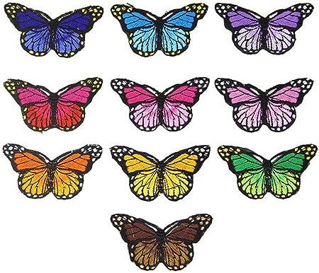 Ximkee Parches bordados con diseño de mariposas, pack de 10 ...