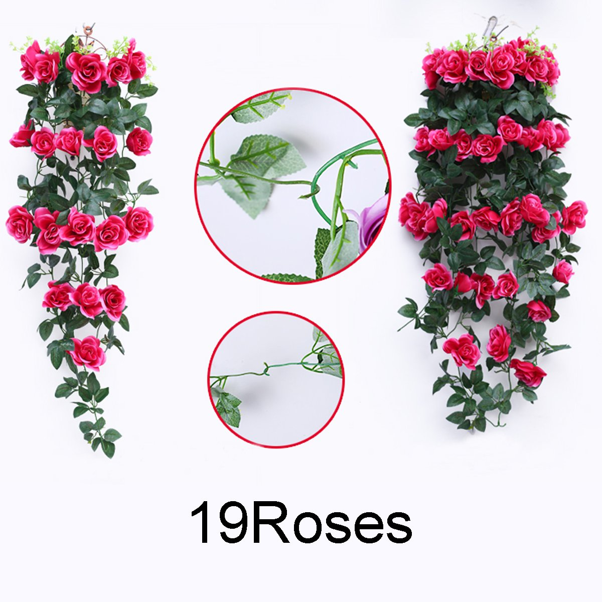 Amazon Greentime Fake Flowers 40 19 Heads Artificial Rose