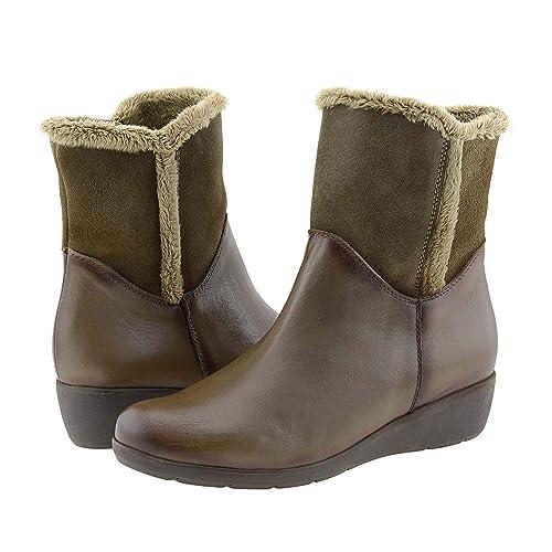 disponibilidad en el reino unido 857ab 2e8e9 Botines cuña Piel Talla: 40 Color: Taupe: Amazon.es: Zapatos ...